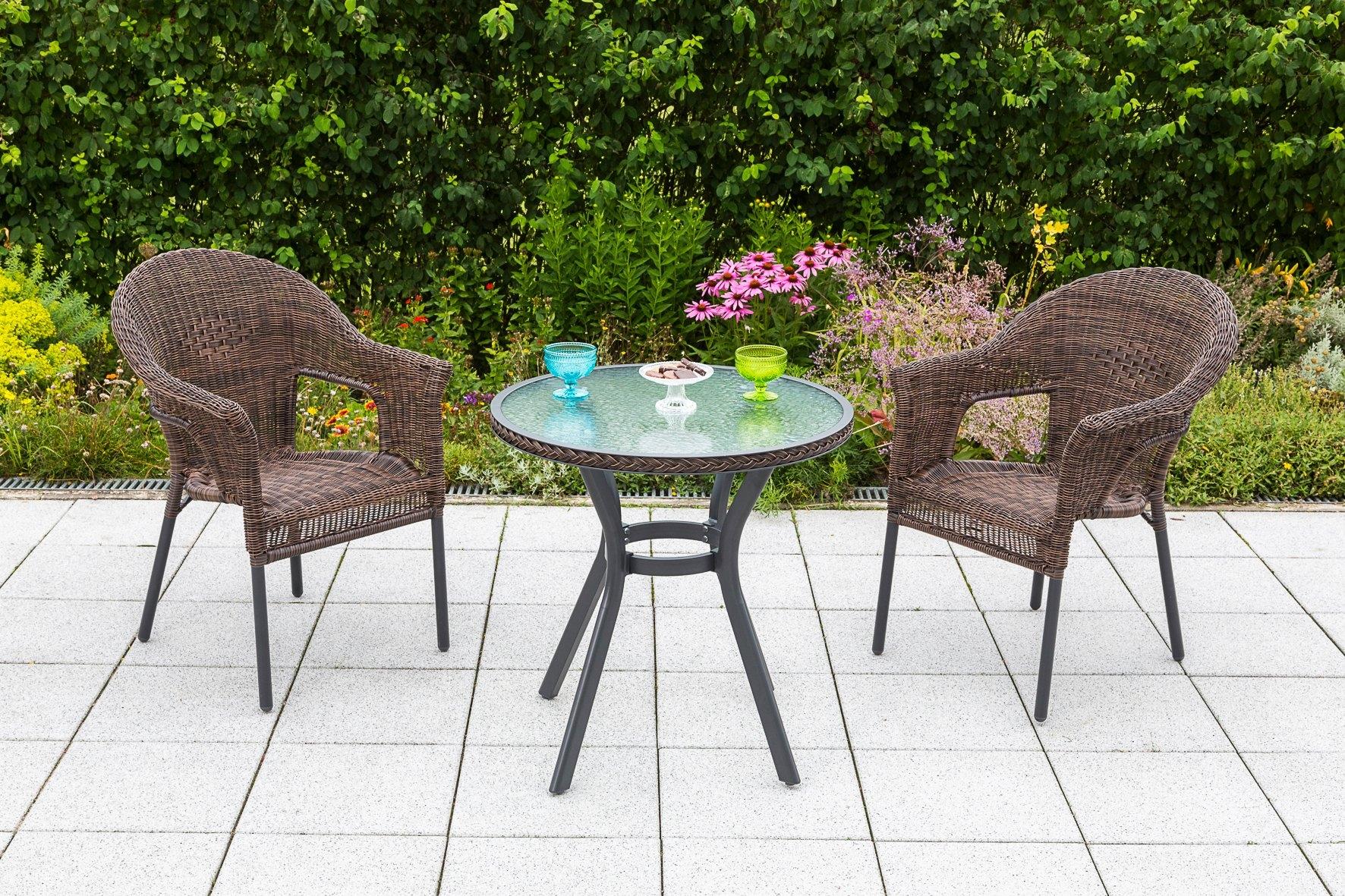 Rotan Stoel Goedkoop : Merxx tuinmeubelset »ravenna« 3 dlg. 2 stoelen en 1 tafel