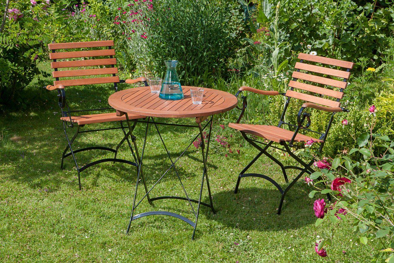 Inklapbare Tafel Kopen : Merxx tuinmeubelset schloßgarten« dlg stoelen en tafel Ø