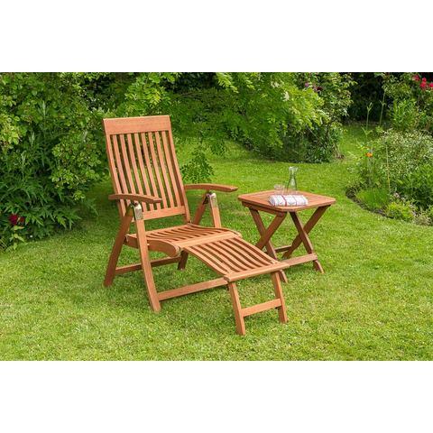 MERXX Tuinmeubelset Commodoro, 2-dlg., stoel, tafel 50x50 cm, inklapbaar, eucalyptus