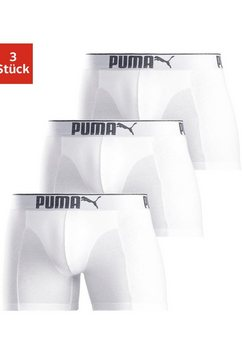 puma boxershort »lifestyle sueded cotton boxer 3p« (set van 3) wit