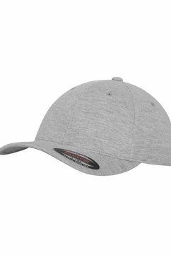 flexfit baseballcap double jersey, achter gesloten grijs