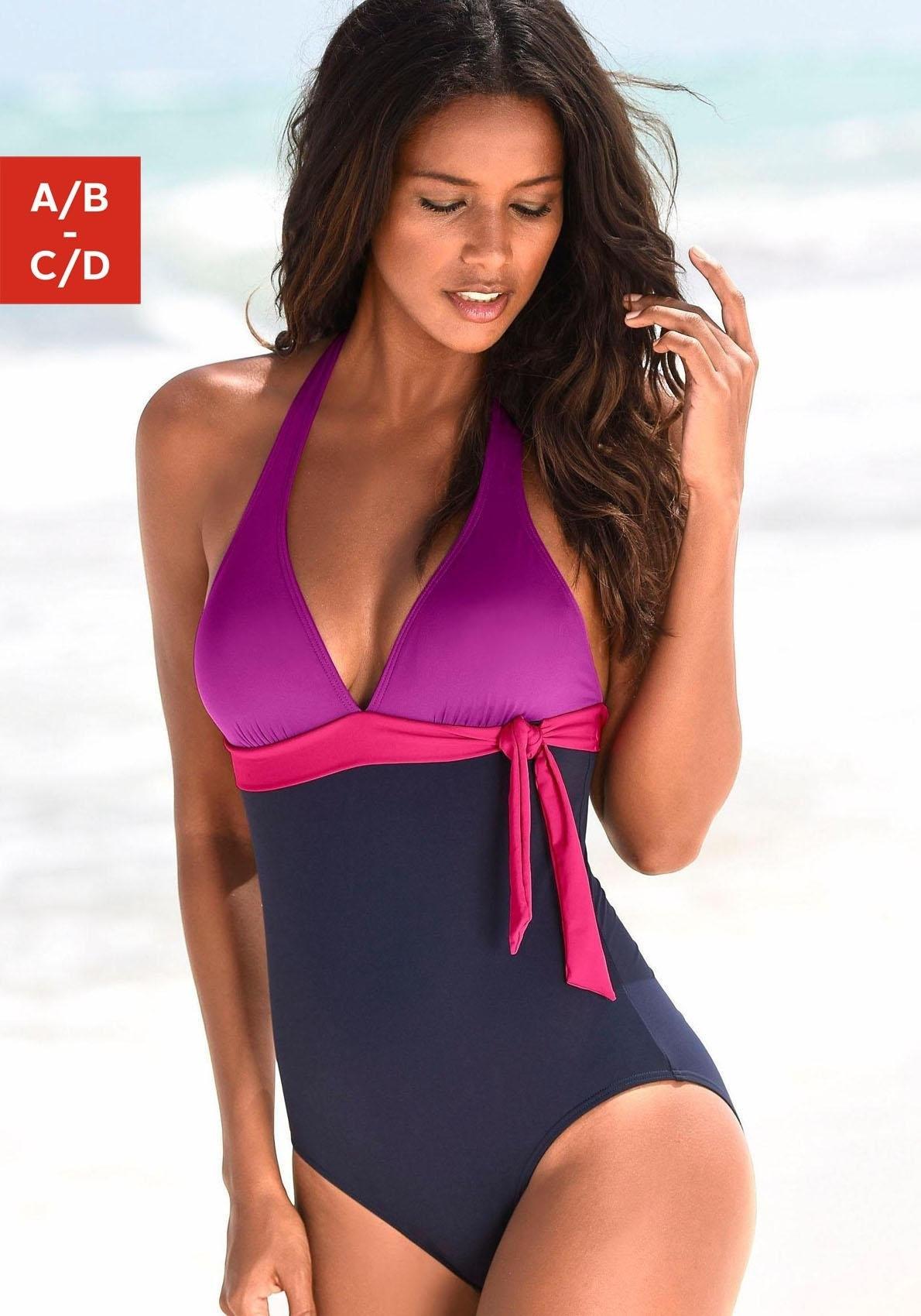 s.Oliver RED LABEL Beachwear badpak in colourblocking-look met een modellerend effect voordelig en veilig online kopen