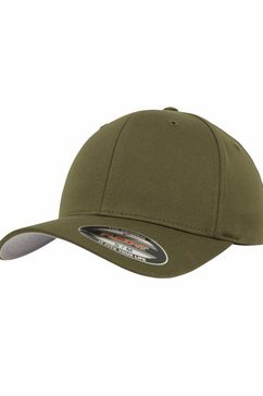 flexfit flex cap baseballcap, wooly combed groen