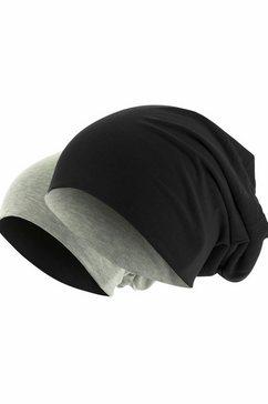 mstrds beanie oversized muts die binnenstebuiten is te dragen zwart