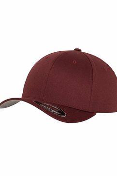 flexfit flex cap baseballcap, wooly combed rood