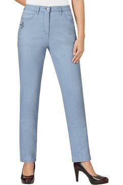 lady jeans met vogeltje van glinstersteentjes blauw