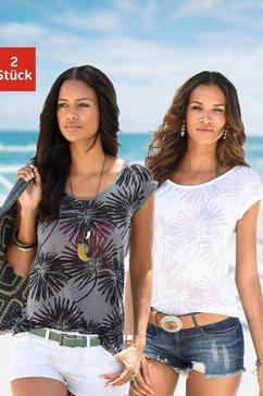 beachtime t-shirt (set van 2) multicolor