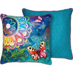 hip sierkussen parada met vlinders en mandala's (1 stuk) multicolor
