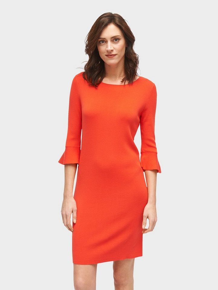 Tom Tailor partyjurk jurk met volantmouwen oranje