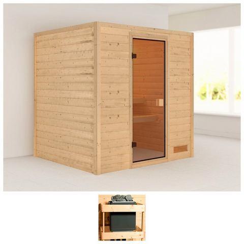 Sauna Anja Massieve 38MM Sauna Wanden Karibu