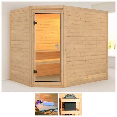 Sauna Tanami Massieve 40mm Sauna Wanden Karibu