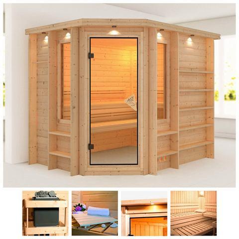 Sauna Riona Massieve 40mm Sauna Wanden Karibu
