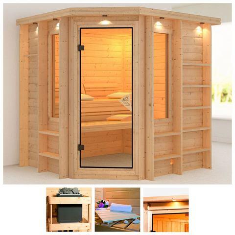 Sauna Cortona Massieve 40mm Sauna Wanden Karibu