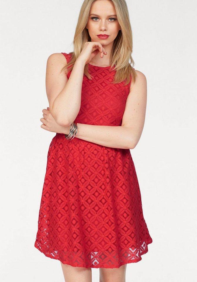 Vero Moda kanten jurk SIMONE rood