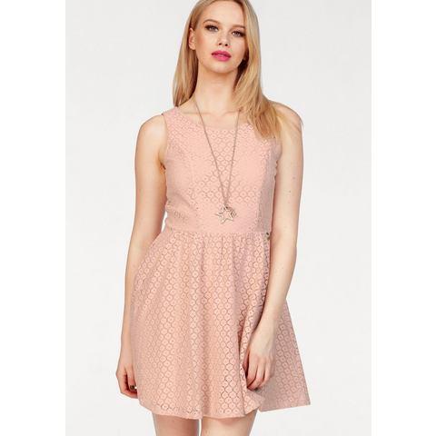 ONLY kanten jurk LINE roze