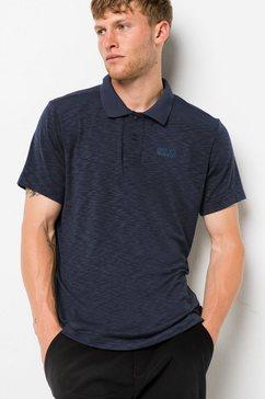 jack wolfskin shirt »travel polo men« blauw