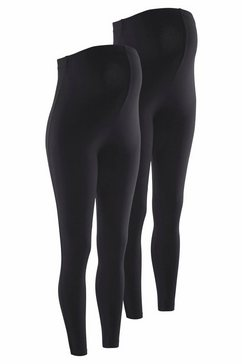 neun monate zwangerschaps-legging in set van 2 zwart