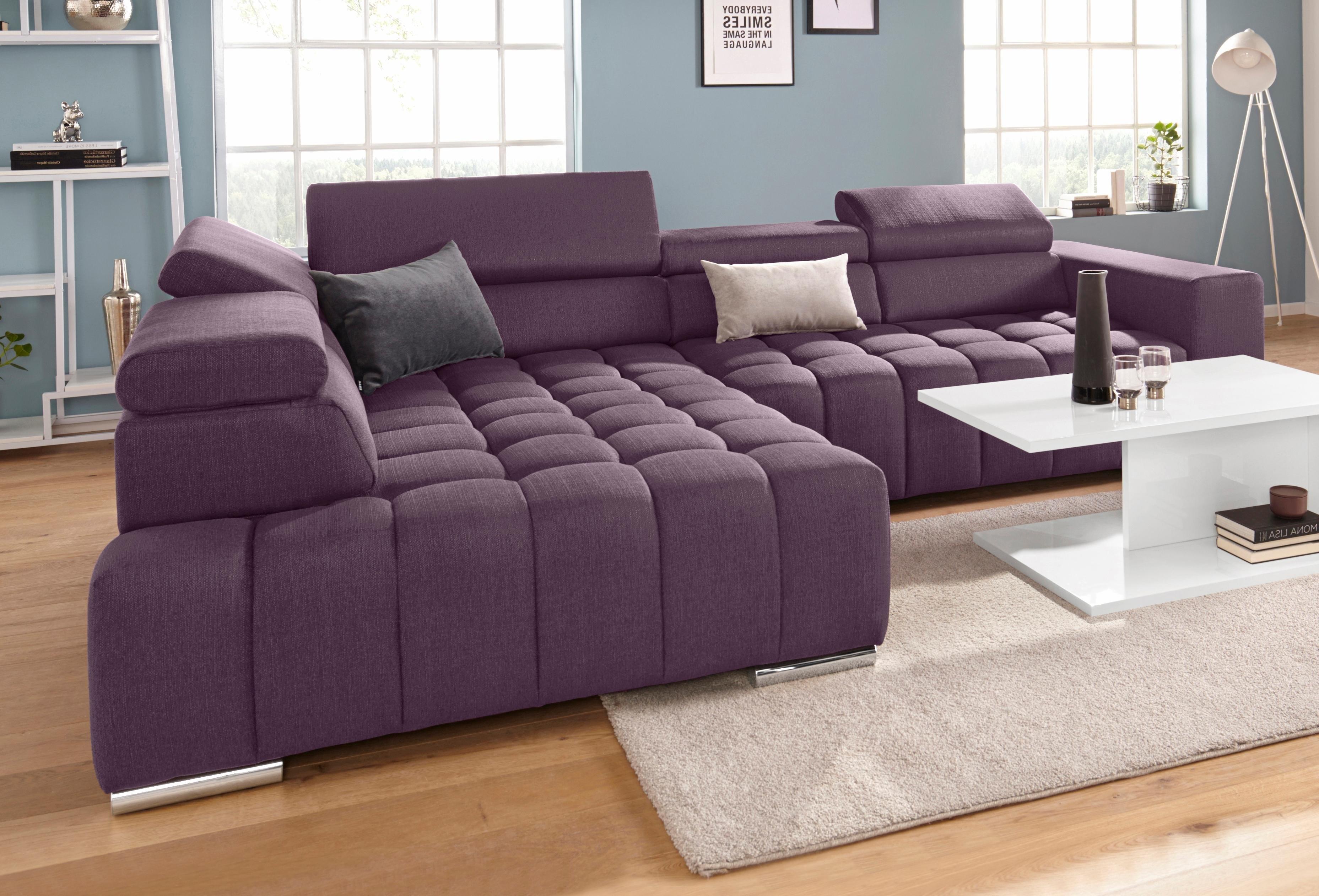 exxpo - sofa fashion hoekbank met verstelbare hoofdsteun en verstelbare rugleuning, naar keuze met slaapfunctie en bedkist nu online kopen bij OTTO
