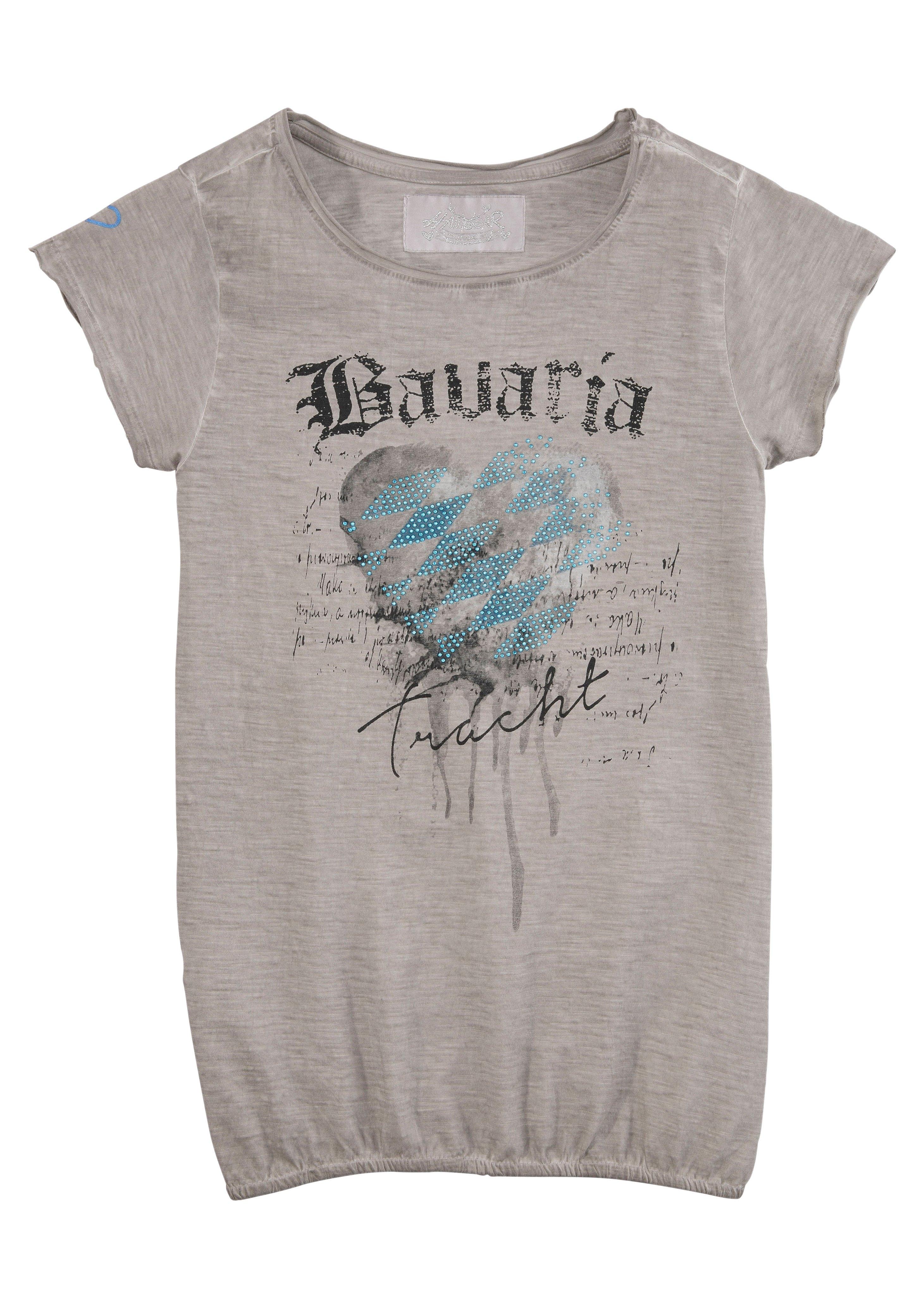 Op zoek naar een Hangowear folklore-damesshirt met print en glinstersteentjes? Koop online bij OTTO