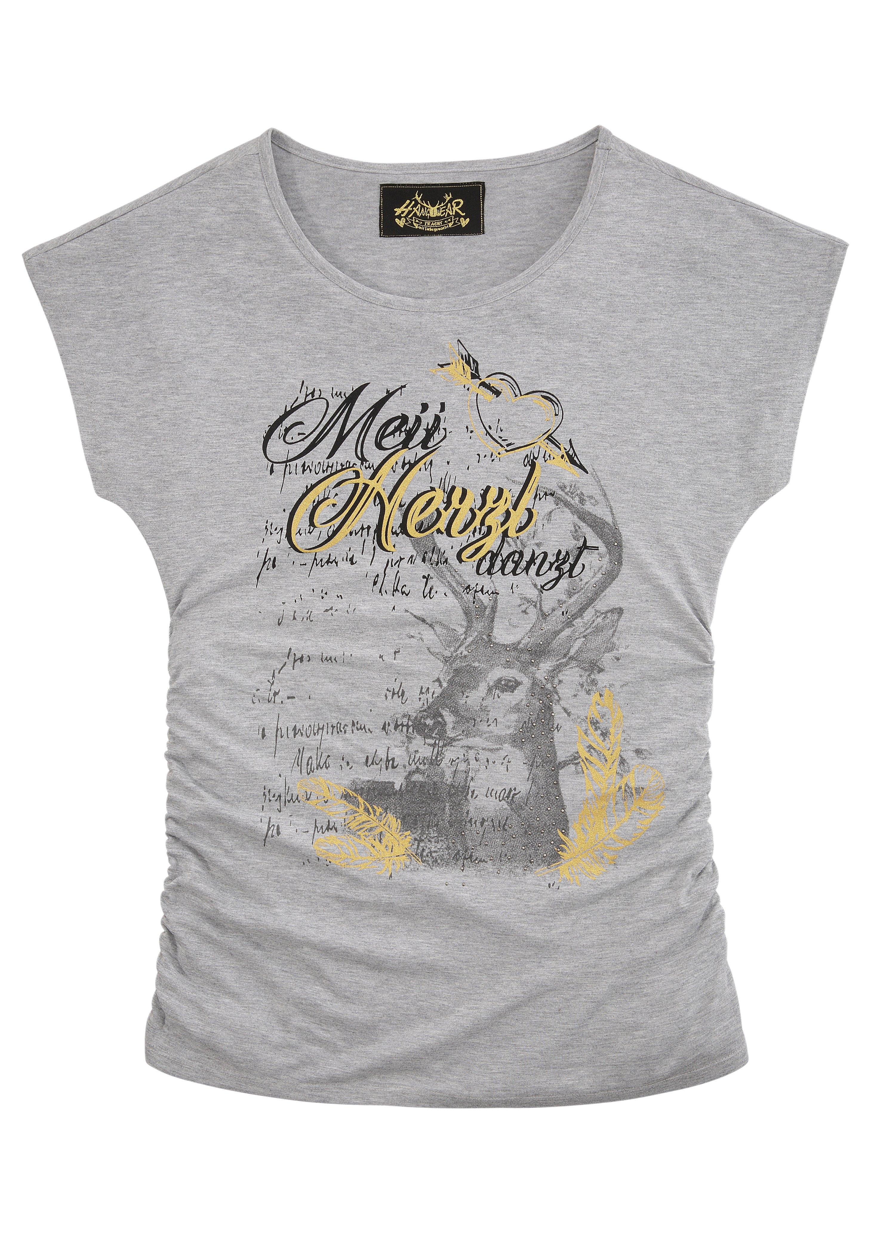Hangowear folklore-damesshirt in mêlee-look nu online kopen bij OTTO