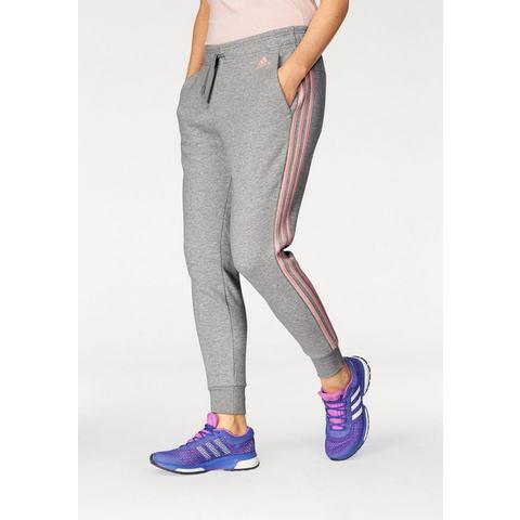 Essentials 3-Stripes Tapered Joggingbroek Grijs-Roze Dames Grey-Pink
