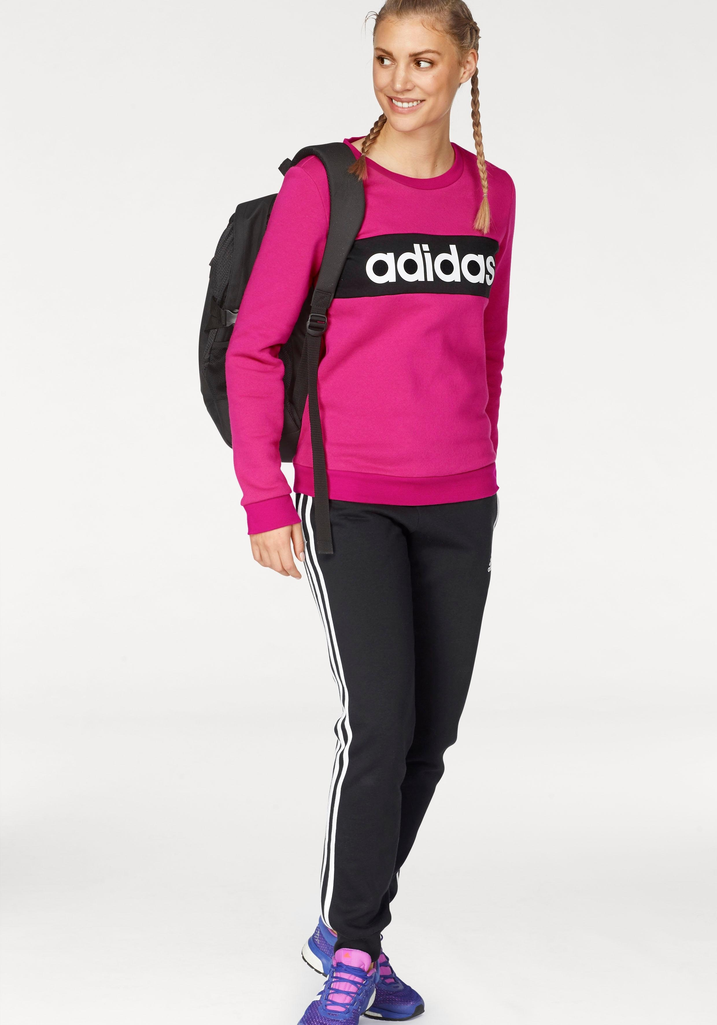 adidas Performance joggingpak »WOMEN TRACKSUIT COTTON CHILLOUT« (set, 2-delig) bij OTTO online kopen