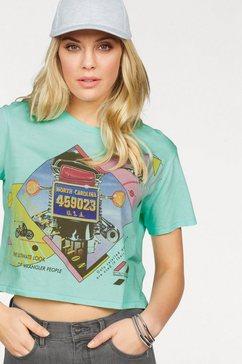 wrangler t-shirt »crop tee« groen