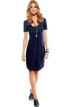 ambria jurk met kantapplicatie blauw