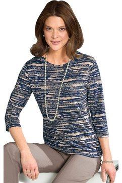 classic shirt met 3-4-mouwen blauw