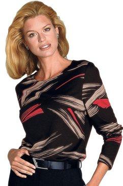 classic shirt met een aantrekkelijk allover-dessin zwart