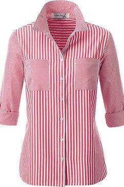 casual looks blouse met overhemdkraag rood