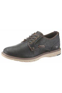 mustang shoes veterschoenen met lichte siernaad blauw