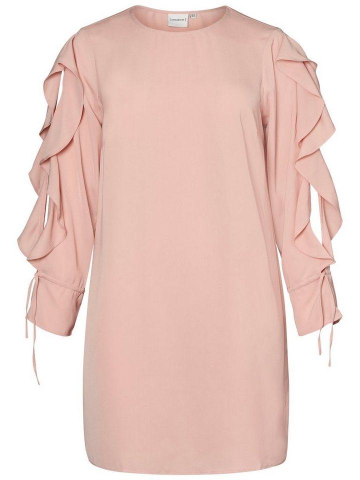 Junarose Longsleeve jurk roze