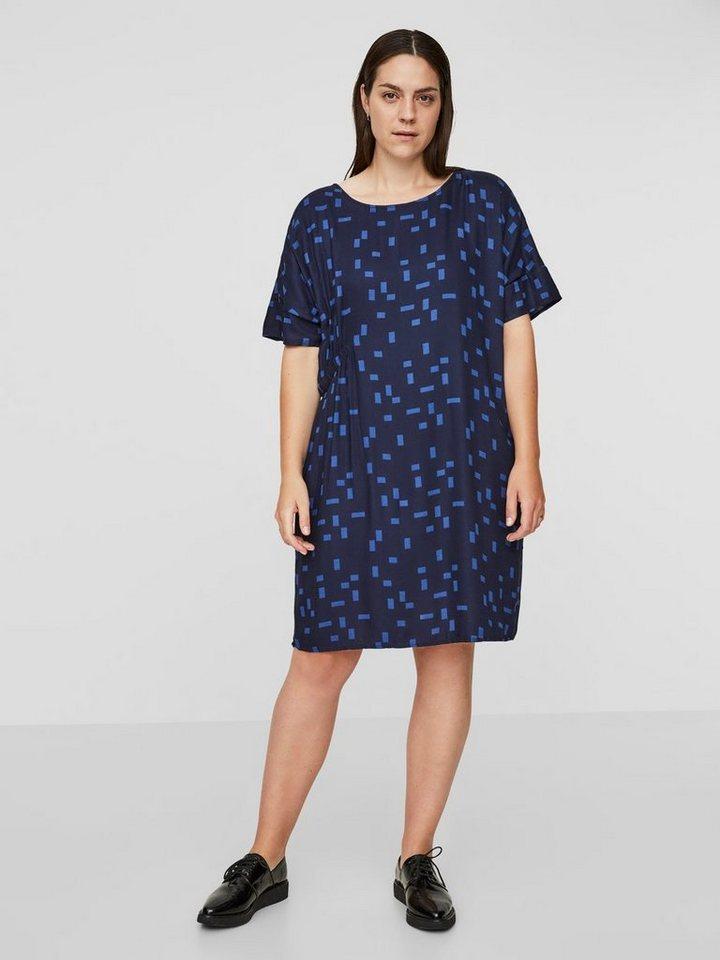 Junarose Bedrukte viscose jurk blauw