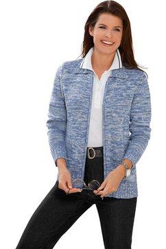 casual looks vest met platte kraag blauw