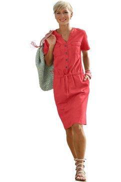 casual looks jurk met sportief dessin rood