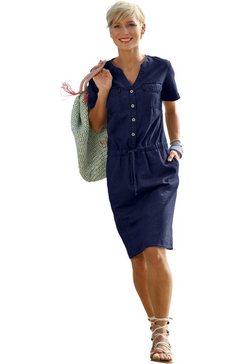 casual looks jurk met sportief dessin blauw