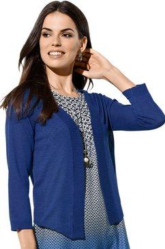 lady vest in bolerostijl blauw