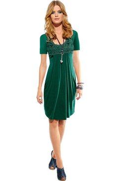 ambria jurk met kantapplicatie groen