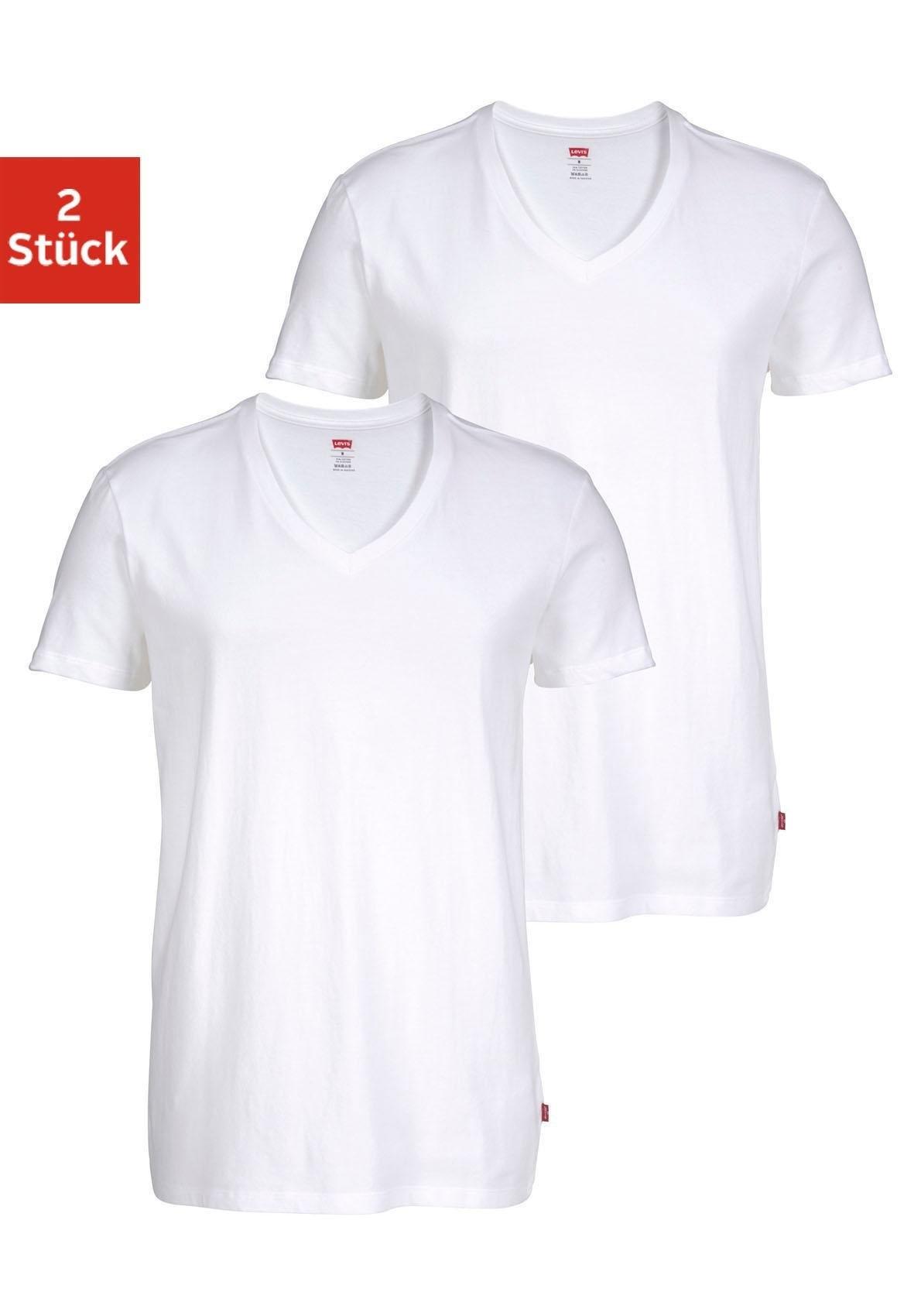 LEVI'S ® heren-T-shirt met V-hals (set van 2) - gratis ruilen op otto.nl