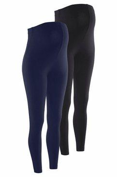 neun monate zwangerschaps-legging in set van 2 blauw