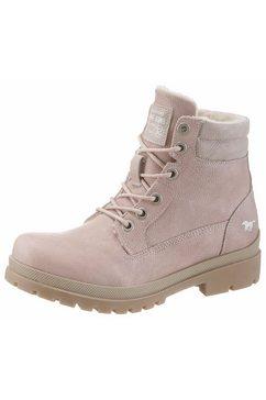mustang shoes hoge veterschoenen roze