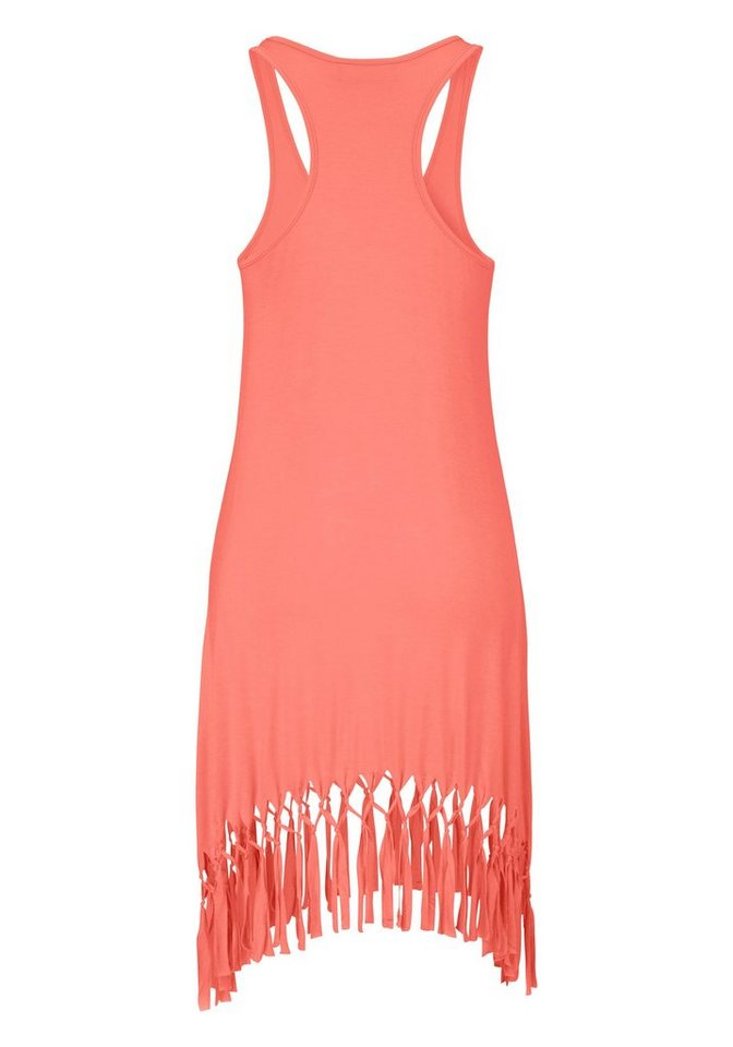 Beachtime Shirt in lang model oranje