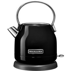 kitchenaid waterkoker 5kek1222eob in onyx zwart zwart