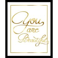gc wanddecoratie »you are beautiful ii gold« goud