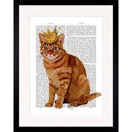 gc wanddecoratie »newspaper crown cat« multicolor