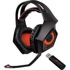 asus »rog strix« gaming-headset (bluetooth, noise-cancelling, microfoon aan de buitenkant) zwart