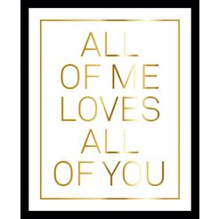 gc wanddecoratie »all of me white« goud