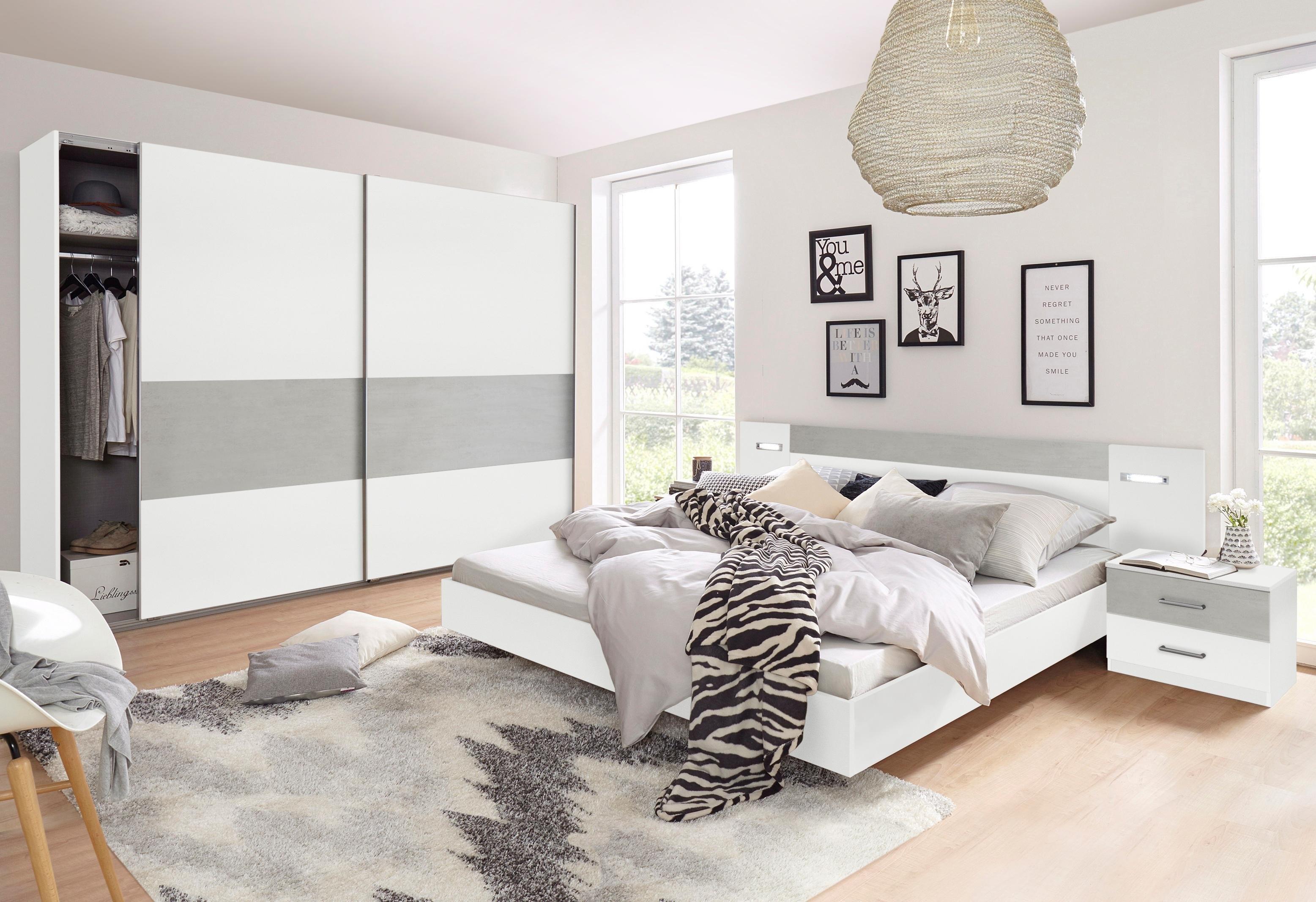 wimex slaapkamermeubelen in 4 delige set met spiegeldeuren wimex slaapkamerserie met garderobekast 4 dlg rauch 4 delige slaapkamer voordeelset