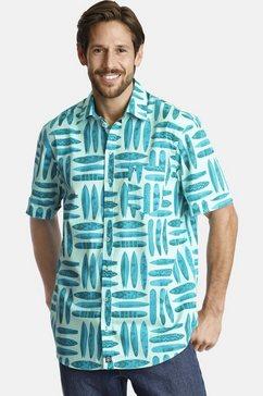 jan vanderstorm overhemd met korte mouwen kyre zomeroverhemd met surfplankmotief groen